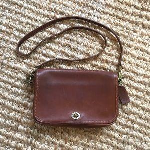 Vintage COACH Crossbody Handbag Purse, Tan/Cognac